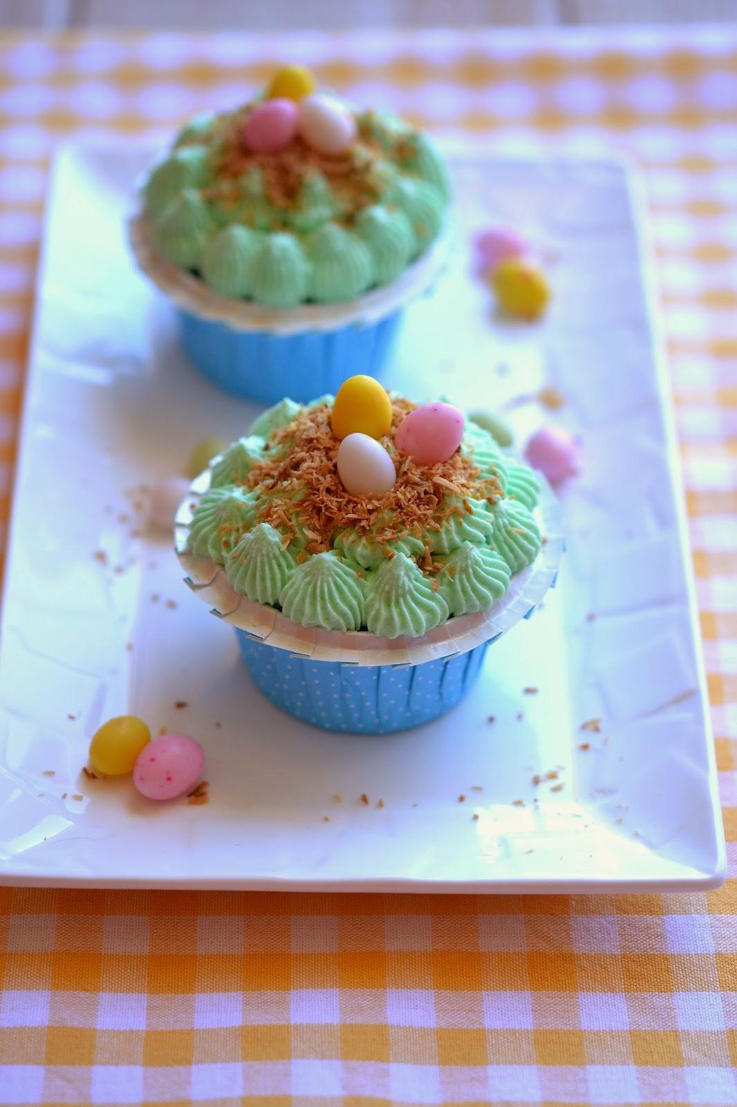 Cupcakes nid de Pâques Fromage ou Dessert ? Dessert !!!