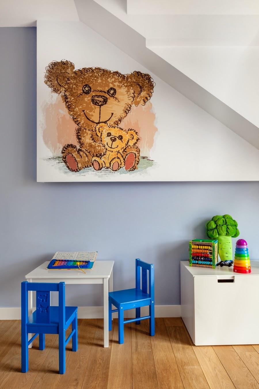wnętrza, wystrój wnętrz, dom, mieszkanie, aranżacja, home decor, dekoracje, styl nowoczesny, biel i czerń, lampy, pokój dla dziecka, pokój dziecinny