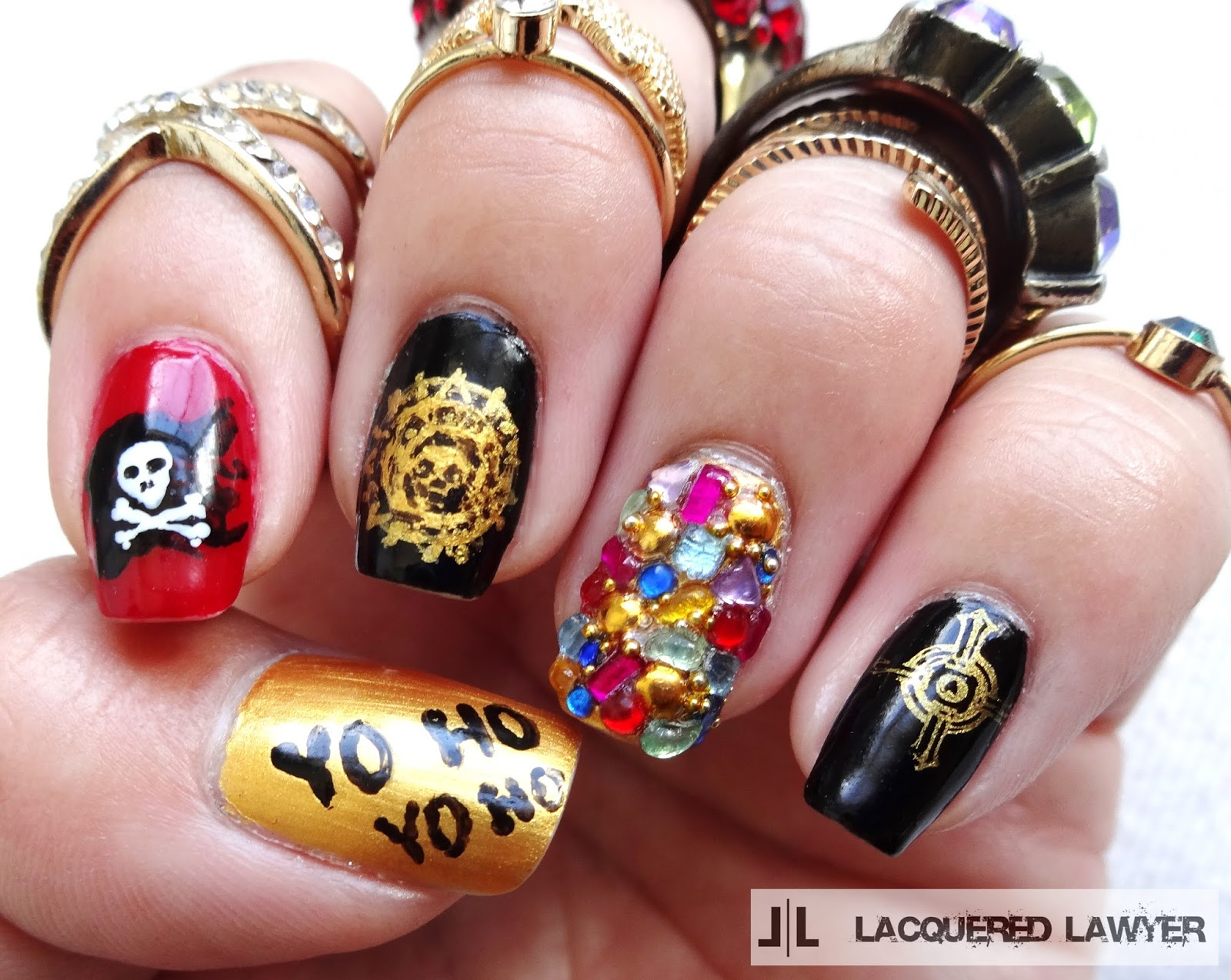 Lacquered Lawyer Nail Art Blog A Pirates Life For Me