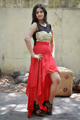 Meghasri glamorous photos in red-thumbnail-1