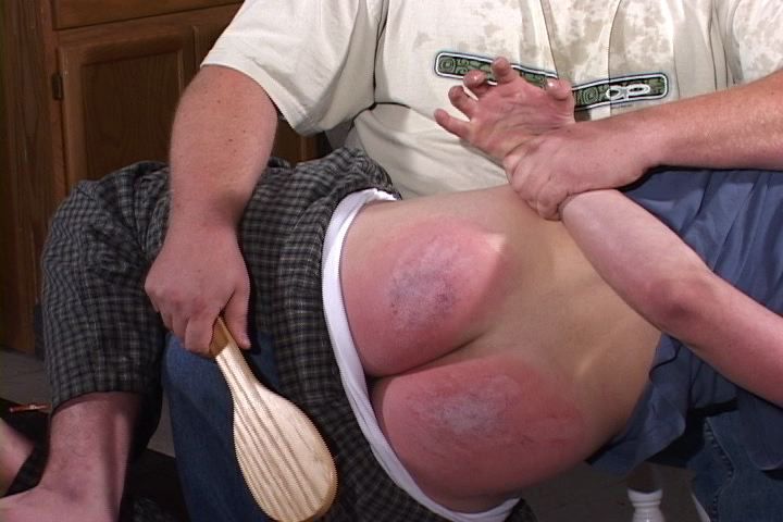 Bottom naughty paddle spank