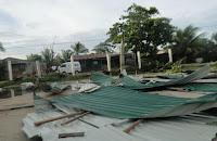 daños a viviendas en Puerto Castilla
