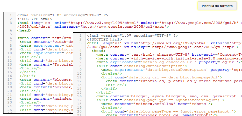 Nuevo en Blogger: Editor HTMLde la plantilla mejorado : Ayuda Bloggers