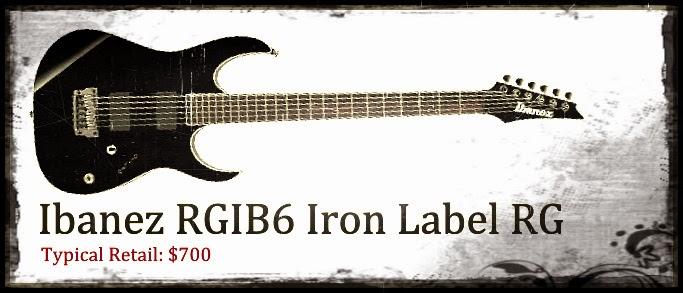 Ibanez RGIB6 Iron Label RG Baritone