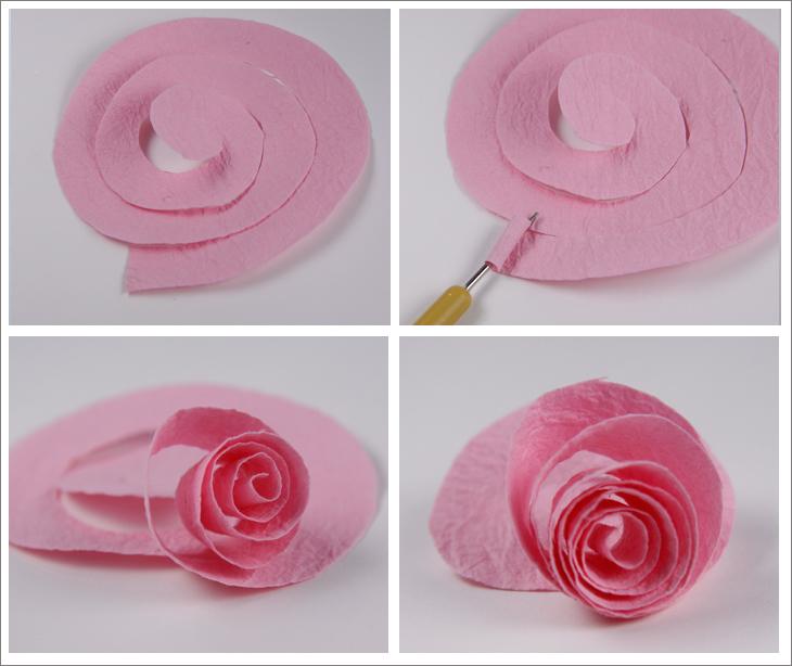 Цветы роза из бумаги