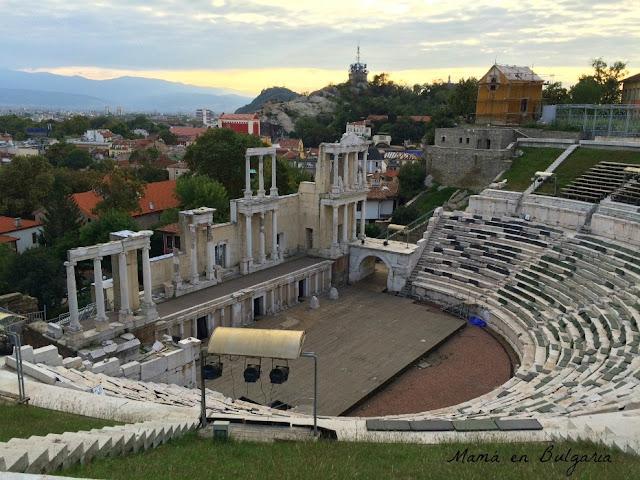 Anfiteatro romano de Plovdiv Bulgaria