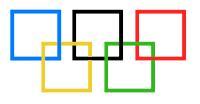 Símbolo Quadrado Jogos Olímpicos Olympic Games Olimpíadas