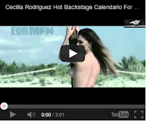 Cecilia Rodriguez Sexy Hot Backstage Calendario 2013