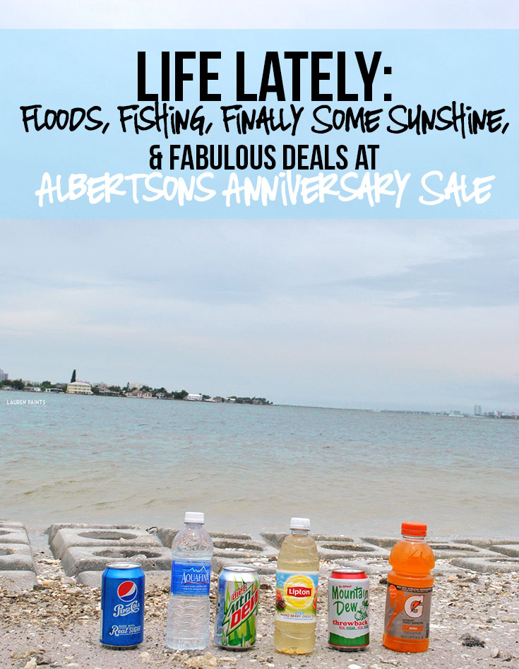 Life Lately: Floods, Fishing, Finally Some Sunshine, & Fabulous Deals from Albertsons Anniversary Sale