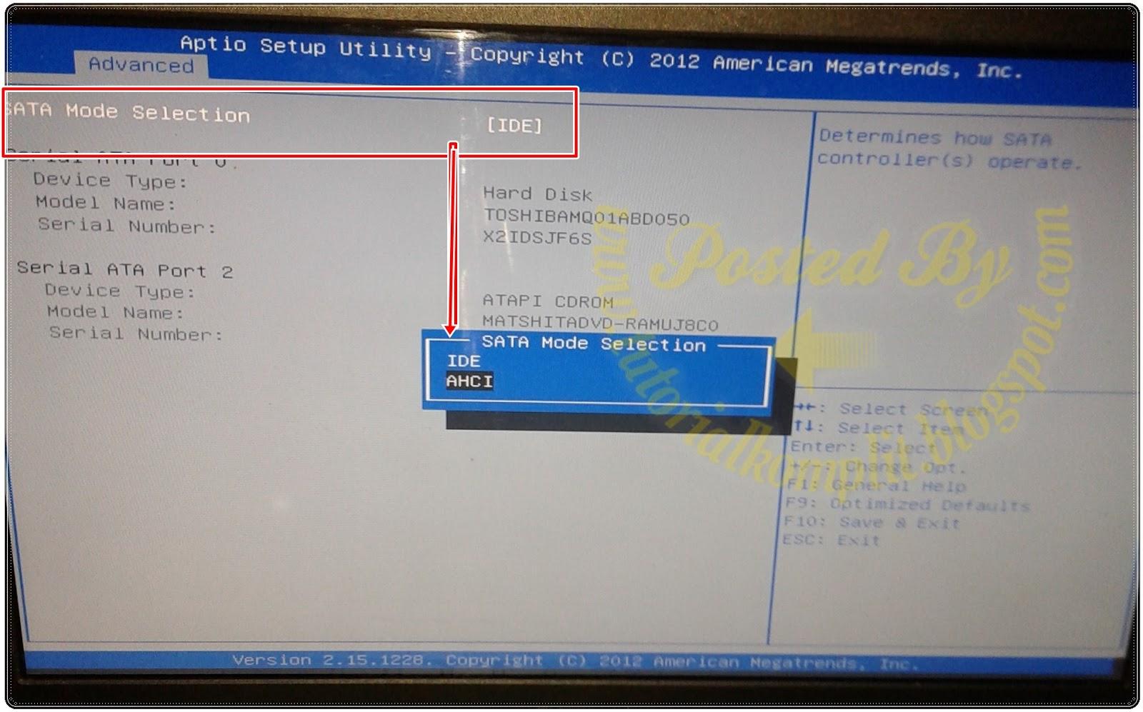 Hbcd Hirens Boot Cd Kumpulan Tool Untuk Teknisi Komputer Bisa Converter Usb To Sata Langsung Tanpa Adaptor For Hdd 25 Rubah Settingan Bios Pada Bagian Tab Advanced Setting Configuration Dari Ahci Ke Mode Ide