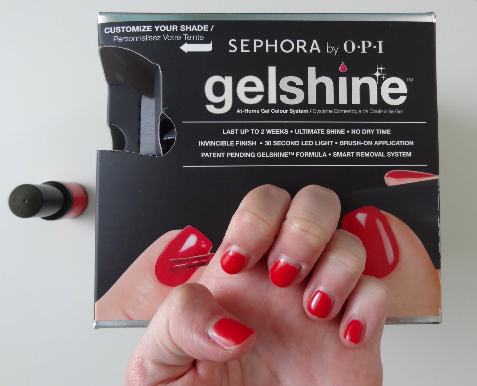 shine gel by Sephora opi