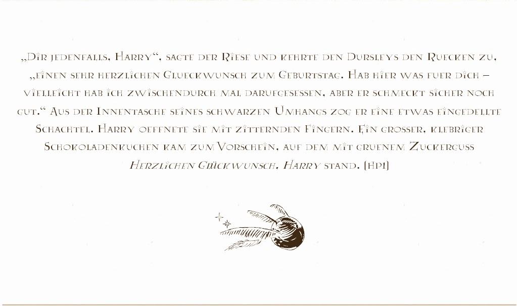 sonja´s bücherblog: harry potter geburtstagsfeier, Einladung