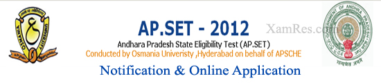 AP SET 2012 Online Application