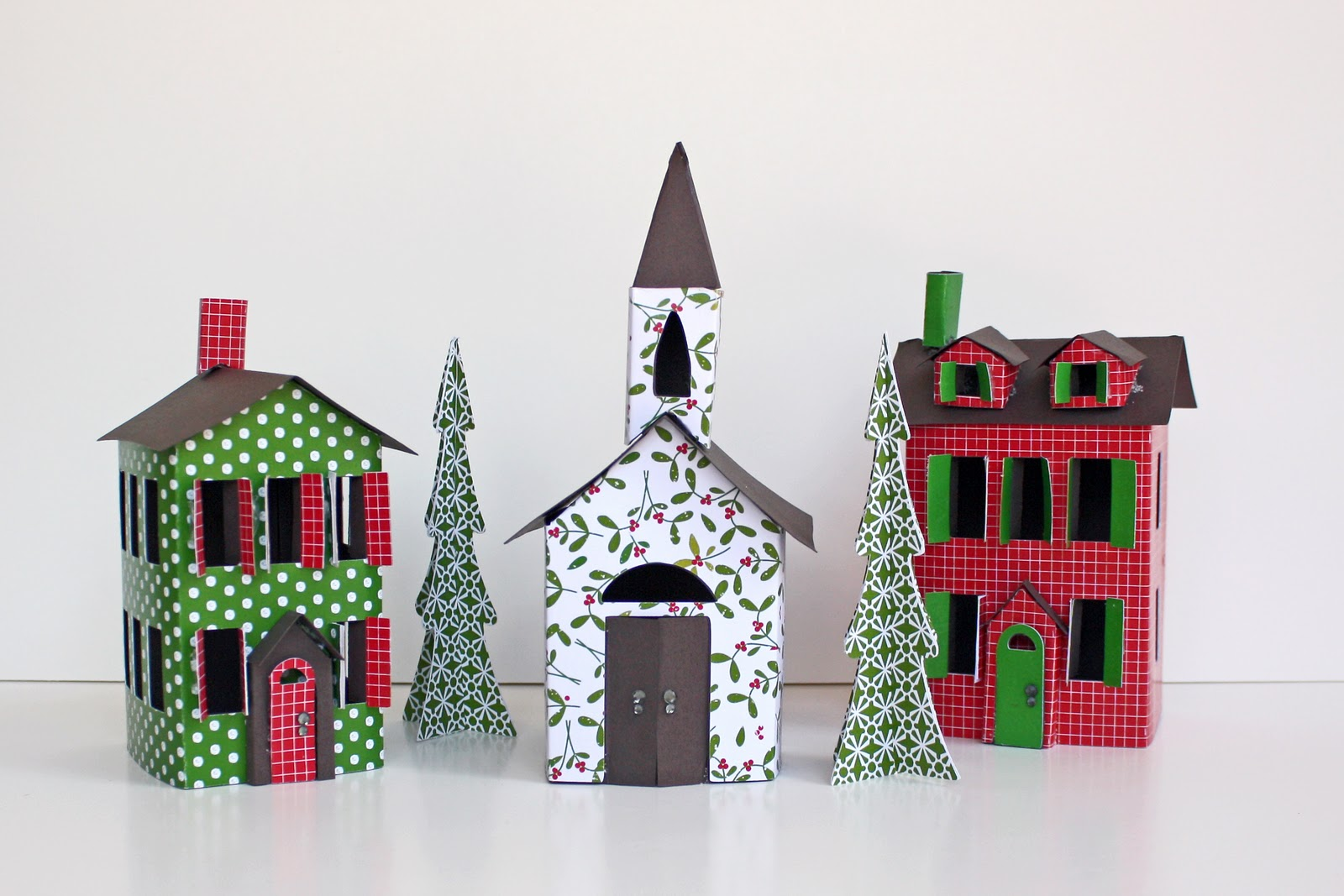 Paper Patterns Christmas Village Paper Patterns Gingerbread Village ...