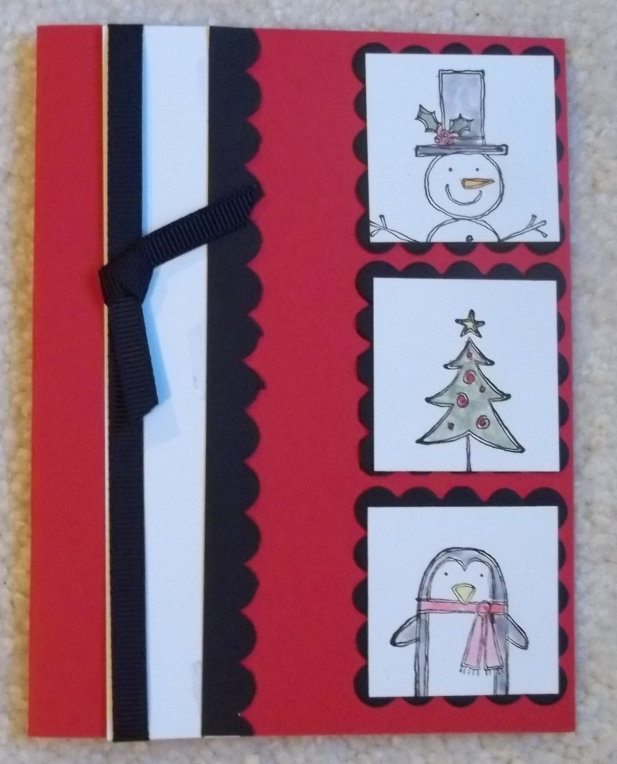 StampLadyKatie.com: Make Your Own Christmas Cards - Easy to Mass Produce
