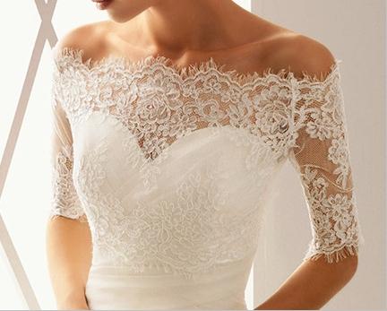 Lace bridal jackets boleros wedding bells for Wedding dress lace jacket