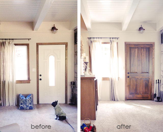 home renovation before and after, exterior doors