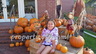 miss grace and pumpkins 1