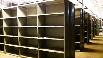 Industrial steel shelving on sale