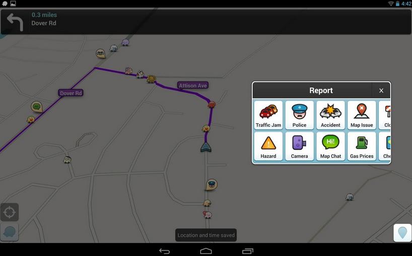 Waze Social GPS Maps & Trafic - Aplikasi GPS Android Terbaik