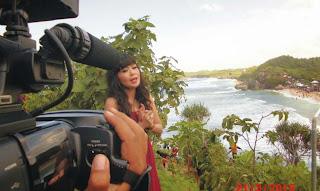 Ngintip Ervi Karina Syuting di Pantai Indrayanti