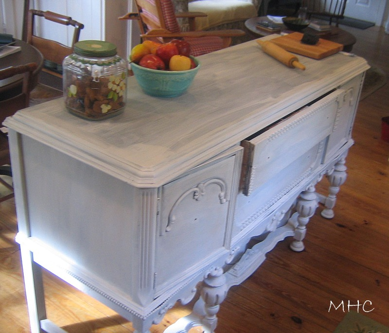 turning a buffet/sideboard into a kitchen island