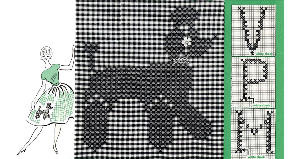 Gingham embroidery patterns free makaroka