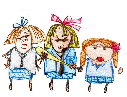 Girl Bully Cartoon Mean girls (image from flickr,
