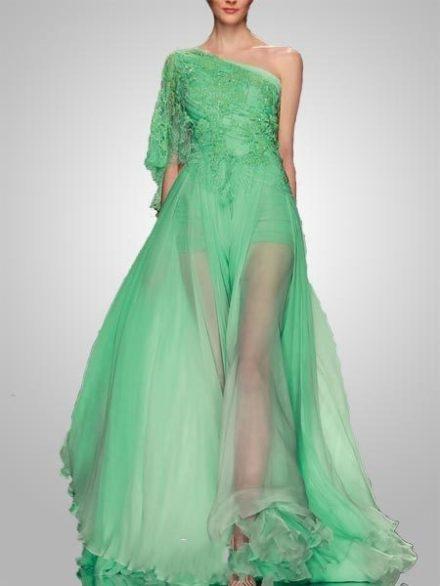 Honey Buy Green Wedding Dress