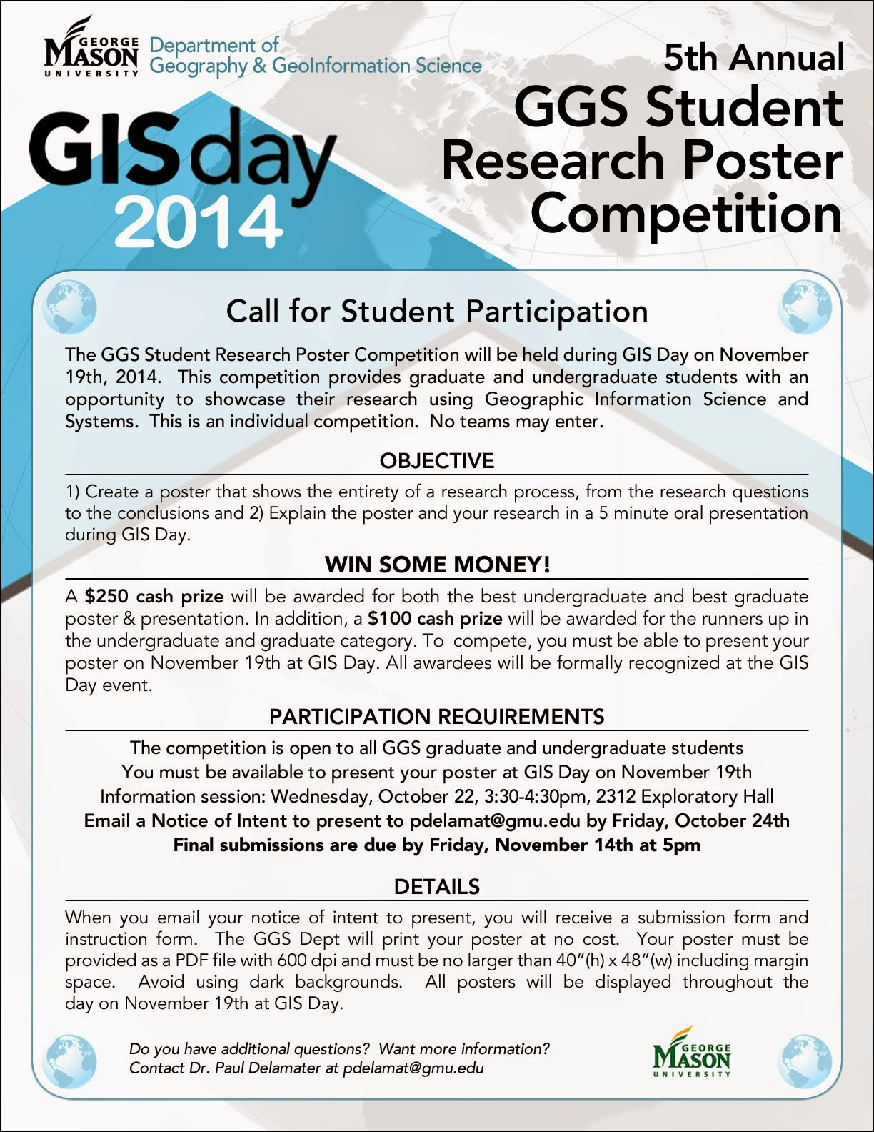 the student poster competition showcases the results of your own research