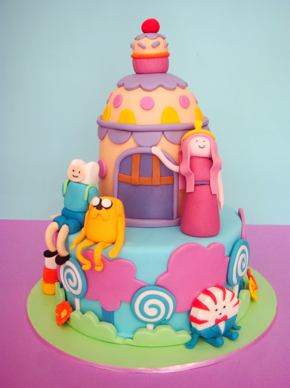 Butter Hearts Sugar Adventure Time Birthday Cake
