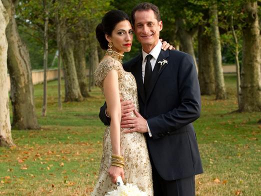 Gambar: Huma Abedin dan suaminya Senator Weiner.