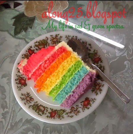 blog along25 rainbow cake murah lawa sedap lawo