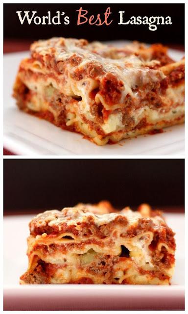 Lasagna on Pinterest