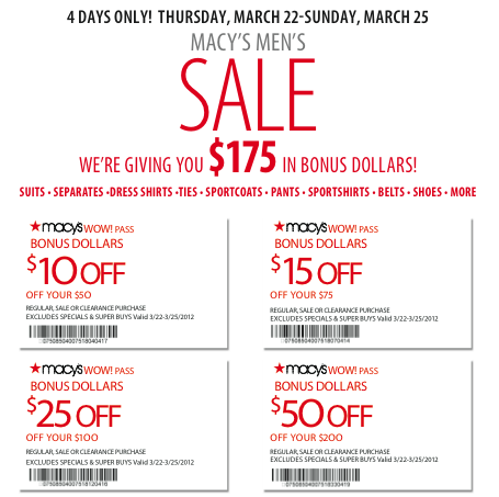 Macy's coupons codes 2018