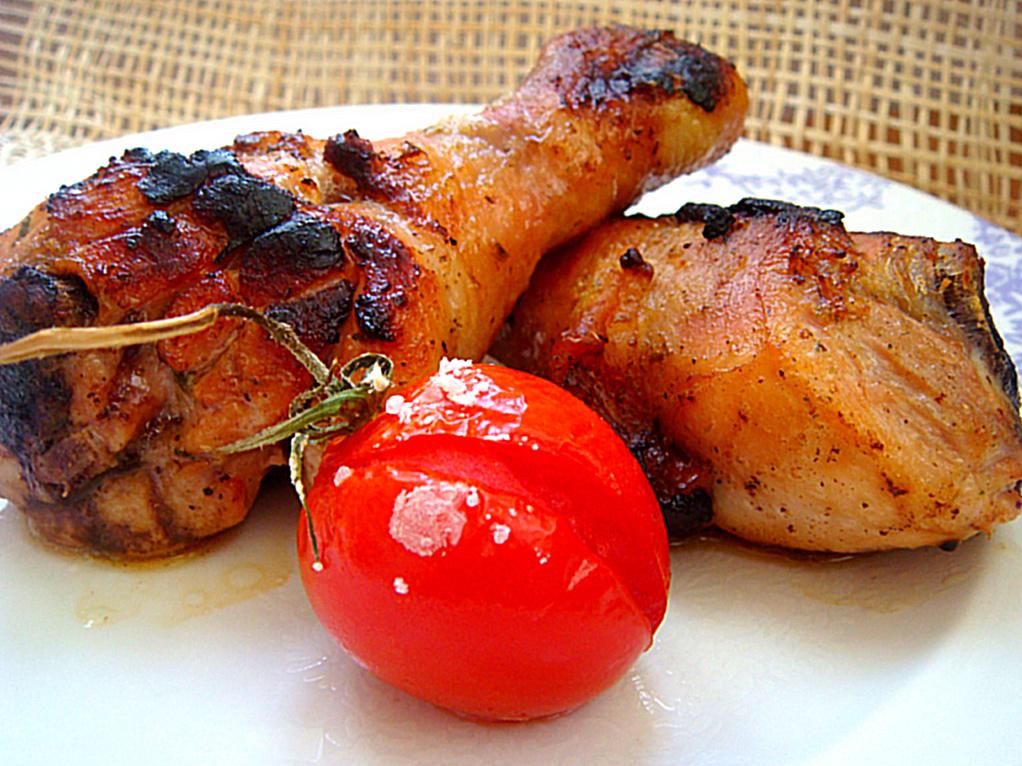 Курица-гриль в горчичном маринаде