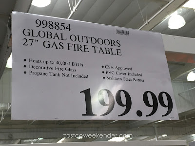 Deal for the Global Outdoors 27 inch Gas Fire Table at Costco