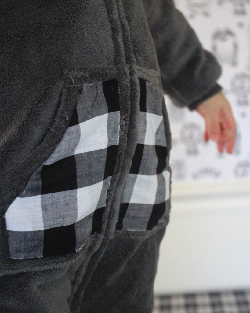 Plaid pockets make all the difference and turn these regular pajamas into something playful and creative.