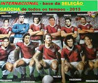 SELEÇÃO GAÚCHA DE TODOS OS TEMPOS - INTERNACIONAL É A BASE E TETO DA SELEÇÃO DO SUL DO BRASIL-2013