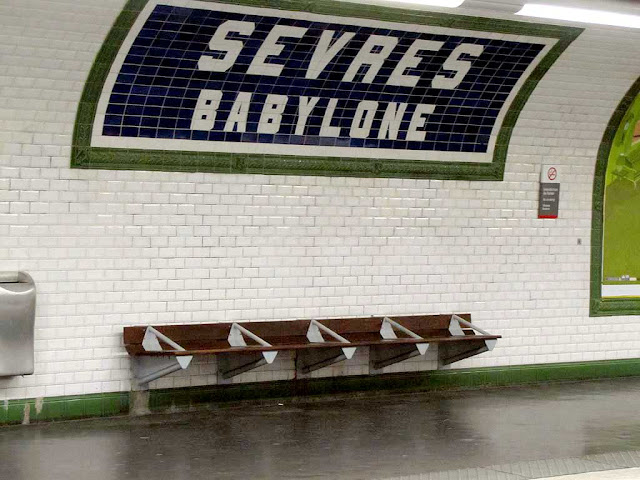 Bench, Sèvres-Babylone station, Paris Métro Line 12, Paris