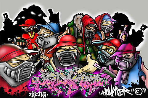 characters graffiti funny cartoon picture