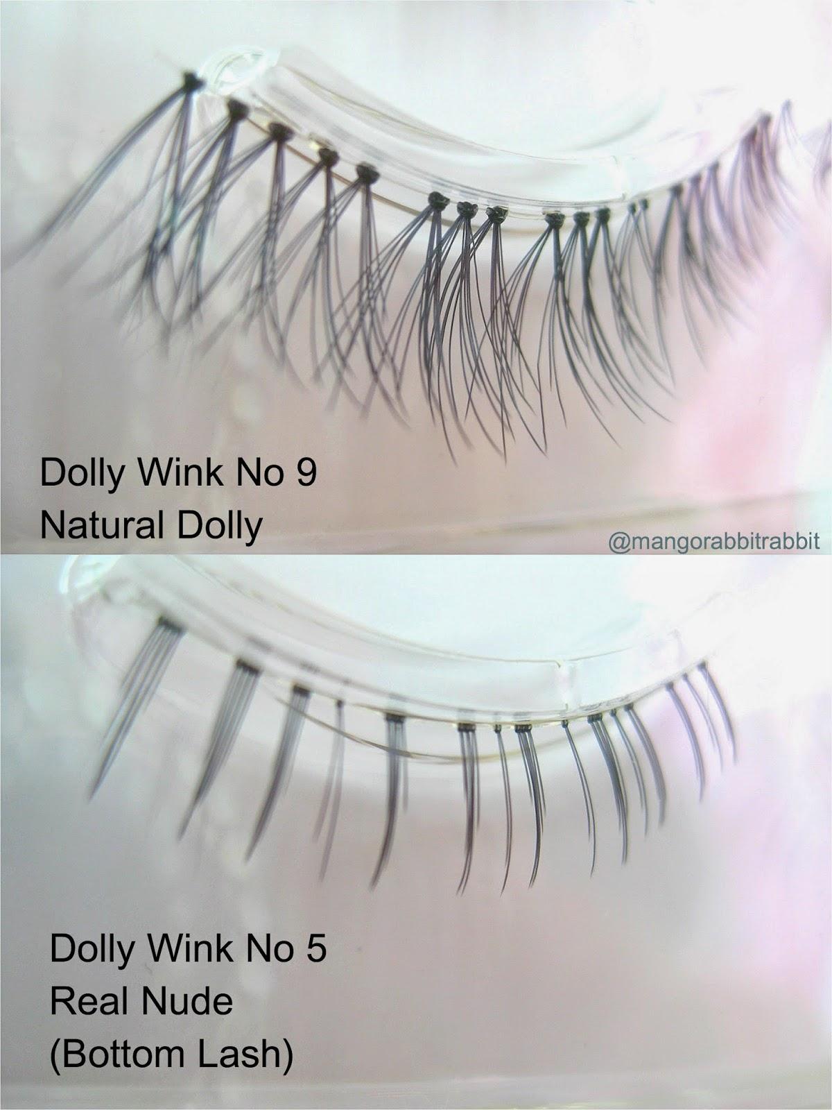 Review Dolly Wink Eyelashes No9 Natural Dolly No5 Real Nude