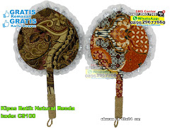 Kipas Batik Natural Renda
