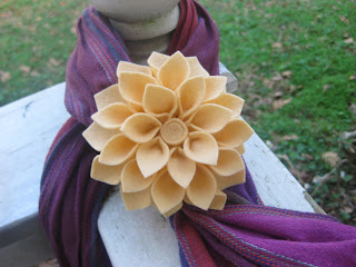 100% Wool Apricot Flower Handmade by the Speckled Kat on etsy