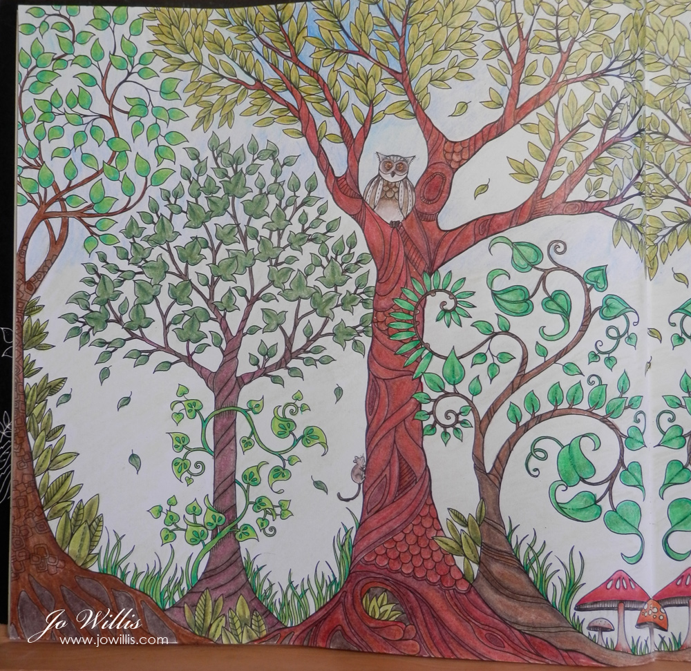 Here I Go Again Another Enchanted Forest Double Page