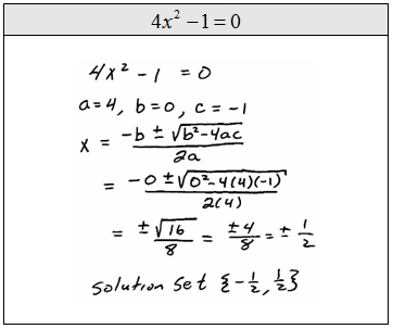 solve quadratic equations online
