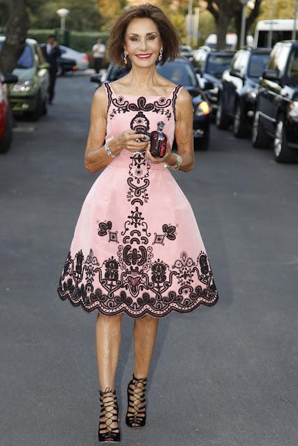Naty Abascal, vestida de Oscar de la Renta en la boda de Leticia Calderon