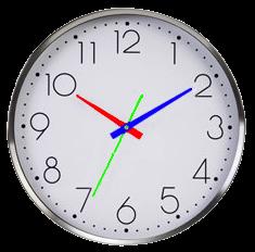 1d0bf53d3fd Menu da Terra  Como olhar a hora em relógio de ponteiro (analógico).