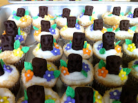 Luau Tiki Men Cupcakes Cake Decorating Rolled Fondant