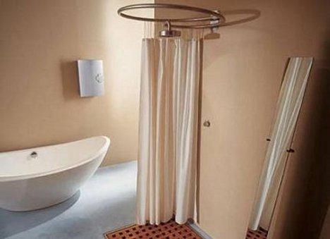 Moderna ducha en espiral con cortina adaptable bonitadecoraci - Cortinas ducha originales ...